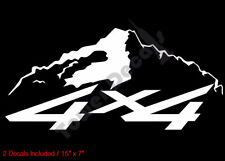 4X4 SNOWCAP MOUNTAIN SOLID VINYL DECALS FITS:CHEVY GMC DODGE FORD NISSAN TOYOTA