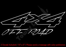 4X4 OFFROAD OUTLINED SHARP VINYL DECALS FITS: CHEVY GMC DODGE FORD NISSAN TOYOTA