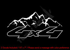 4X4 MOUNTAIN RANGE OUTLINED VINYL DECALS FITS:CHEVY GMC DODGE FORD NISSAN TOYOTA