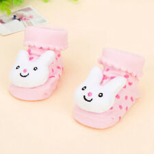 1 Pair Trendy Newborn Baby Girl Boy Cartoon Anti-slip Socks Slipper Shoes New
