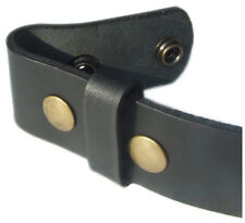 Mens LUXURY Leather Belt Strap Snap On Stud Without Buckle. MENS LEATHER BELT. H
