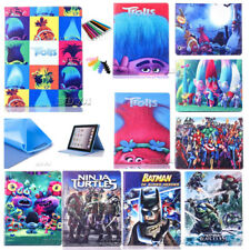 Hot cartoon pu leather rubber case for iPad mini 4 magnetic flip stand cover