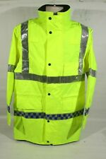 Ex Police Hi Vis Waterproof Jacket for Vehicle With Chequered Reflective Strips