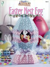 Easter Nest Egg, Easy Holiday Centerpieces plastic canvas patterns OOP rare