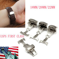 18/20/22MM Stainless Steel Butterfly Deployment Clasp Buckle with Push Button