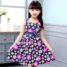 New Baby Girls Summer Dress A-Line Print Floral Girls Dresses Princess Dress