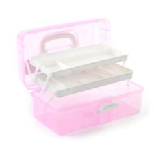 New 2017 3 Layer Storage Plastic Nail Art Case Box Craft Cosmtic Tools Holder