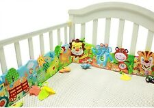 Baby Bed Mobile Cloth Book Bumper Crib Around Soft Plush Early Cot Animals Toys