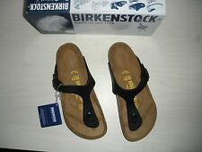 WOMENS BIRKENSTOCK GIZEH THONG SANDALS - BIRKO-FLOR- BLACK - 0043851 -NEW
