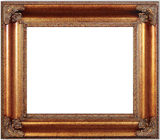 """6"""" WIDE LARGE Traditional Ornate Dark Gold Picture Frame 689A"""
