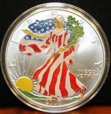 2000 American Silver Eagle 999 Painted Walking Liberty and Rev Eagle