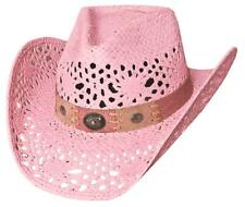 NEW Montecarlo Bullhide Hats PURE COUNTRY Toyo Straw Western Cowboy Hat Pink NWT