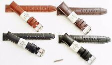 ZRC Alligator Grain Genuine Leather Watch Band Strap 18mm 20mm Handmade France