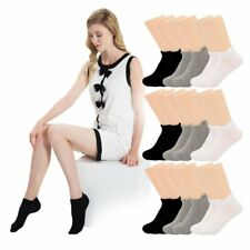 12 Pairs: Women Low Ankle Cotton Socks