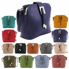 NEW WOMENS FAUX LEATHER MULTI COMPARTMENTS SMALL CROSSBODY SHOULDER BAG