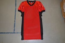 BLANK RED w Black Sides Collar Authentic Arena Fantasy Football League Jersey