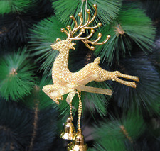 Reindeer Christmas/Xmas Tree Ourdoor Vintage Christmas Decorations With Bells