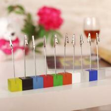 Cube Resin Memo Paper Note Picture Table Card Number Photo Clip Holder 10 Colors