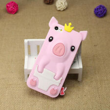 1Pcs Crown Pig Phone Case 4.0 inch Silicone Shell Phone Bag Cute iPhone 5/5S/SE