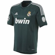 adidas REAL MADRID FOOTBALL SHIRT GREEN 12/13 THIRD KIT CHAMPIONS LEAGUE SOCCER
