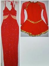 CURTAIN CALL~Womens/JRS DANCE Costume/Recital Outfit~ADULT LARGE~UPICK1