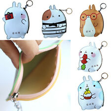 PU Cartoon Rabbit Coin Bag Pouch Purse Zipper Key ID Card Holder for Women Girl