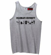 Celebrate Diversity Funny Mens Tank Top Alcohol Party Beer Sleeveless Tee Z3