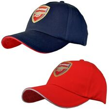 Arsenal Football Club Baseball Cap Hat Features Club Crest - Red Or Navy Colour