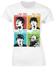 All you need is love Beatles Yoda Ladies T-Shirt - Love is all you need