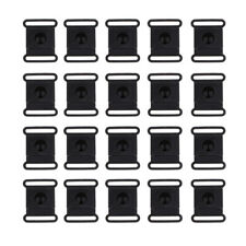 20Pcs POM Plastic Side Release Buckles For Webbing Bags Straps Clips 15/20/25mm