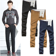 Men's Slim Fit Casual Stretch Pants Comfort Suit Pant Dress Trousers