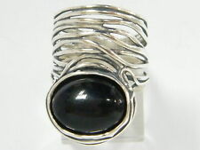 Hand Crafted 925 Sterling Silver SHABLOOL Ring Black Onyx statement Style
