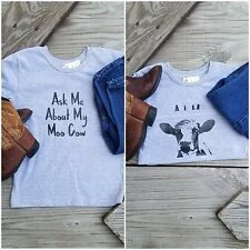 "Ask Me About My Moo Cow ""JOEY THE MOO COW""Toddler Child T Shirt"