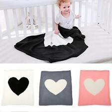 Toddler Bedding Knitted Baby Blanket Kids Soft Crocheted Swaddle Wrap Blankets