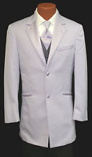 Retro Lavender Purple Andrew Fezza Tuxedo Jacket w/ Vest & Tie 80's Prom Wedding
