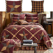 Folkways Star Country Patchwork Quilt Pillow Sham Set 4-5Pc Twin Full Queen King