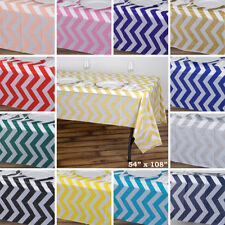 PLASTIC TABLE COVERS 54x108 in Chevron Disposable Tablecloths Wedding Party SALE