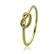 Women 5mm 14K Gold Plated Fine 925 Sterling Silver Celtic Love Knot Ring Band