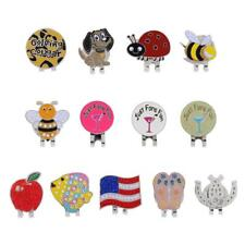 Different Patterns Soft Enamel Golf Ball Marker with Magnetic Hat Clip