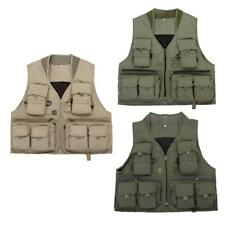 Multi Pockets Breathable Fly Fishing Hunting Mesh Vest Size Large XL & XXL