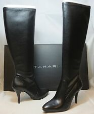 TAHARI Women's Yolanda Boot - Black Faux Leather - Multiple SZ - NIB - MSRP $149