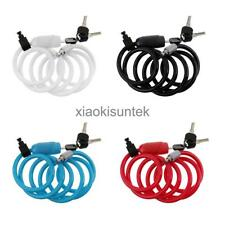 Bike Bicycle Security Anti-Theft Cable Lock Self Coiling Chain with 3 Keys