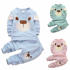 2PCS Kids Baby Boys&Girls Cartoon T-Shirt/Pants Casual Sport Style Outfits Sets
