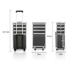 Pro Makeup Rolling Train Case Lockable Cosmetic Wheeled Box Trolley W4X5