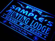 QL-tm Name Personalized Custom Hunting Lodge Firearms Man Cave Bar Neon Sign