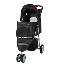 Outdoor Folding Travel Carriage 3 Wheels Jogger Pet Stroller W Cup Holder
