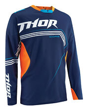 Thor Navy Blue/Fluorescent Orange Core Bend Dirt Bike Jersey MX ATV Gear 2015