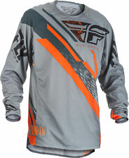 Fly Racing Mens & Youth Grey/Orange Evolution 2.0 Dirt Bike Jersey MX ATV 2018