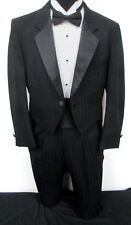 Black Striped Tuxedo Tailcoat with Pants Dickens Christmas Carol Costume