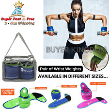 Wrist Weights 2 Lb 4 Lb Weighted Workout Gloves Strength Training Thum Block New